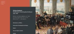 Startseite des Hainhofer Projektes